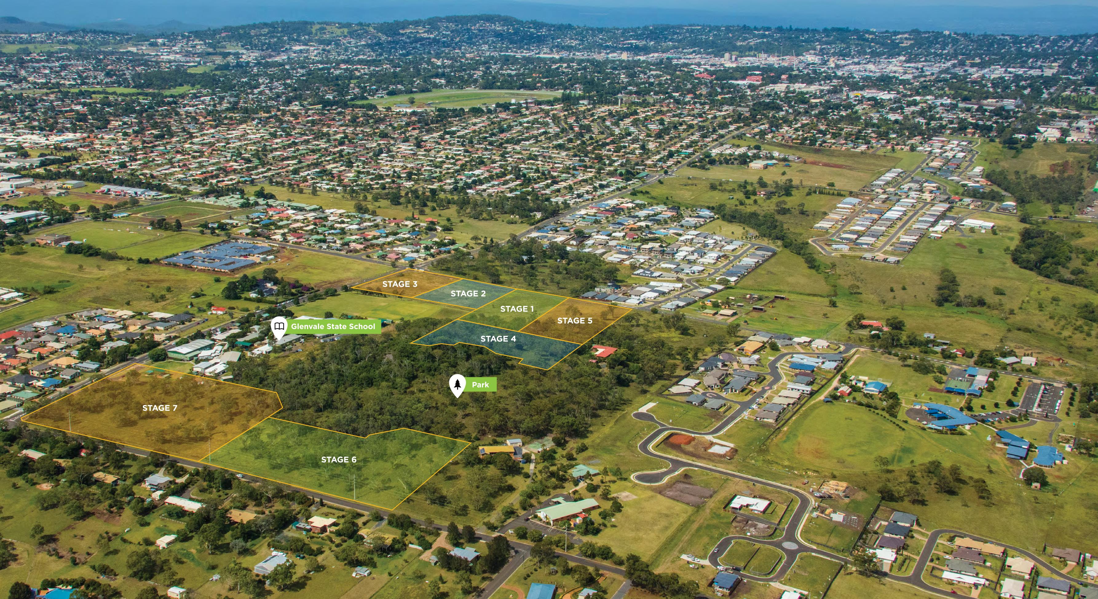 Park Hill Glenvale - Aerial